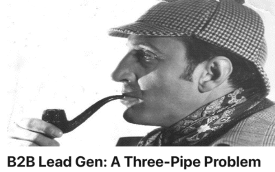 B2B Lead Gen: A Three-Pipe Problem